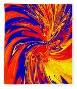 Red Blue Orange Red Yellow Swirl Fleece Blanket