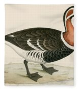 Red Breasted Goose Fleece Blanket