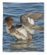 Red-breasted Merganser Fleece Blanket