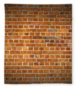 Red Brick Wall Texture With Vignette Fleece Blanket