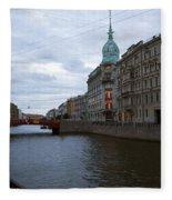 Red Bridge View - St. Petersburg - Russia Fleece Blanket