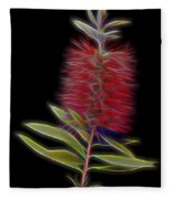 Red Brush Glow Fleece Blanket