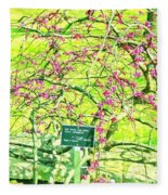 Red Bud Cascade Fleece Blanket