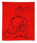 Red Buddha Fleece Blanket