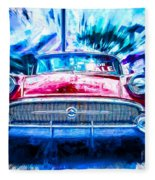 Red Buick  Fleece Blanket