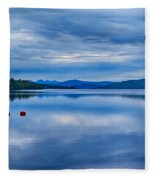 Red Buoys On Loch Rannoch Fleece Blanket