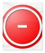 Red  Button Minus Fleece Blanket