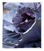 Red Cabbage Abstract Fleece Blanket