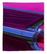 Red Caddy Tail Lights Fleece Blanket