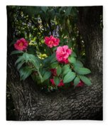 Red Camellias Fleece Blanket