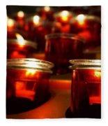 Red Candles Fleece Blanket