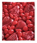 Red Candy Fleece Blanket