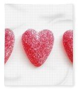 Red Candy Hearts Fleece Blanket