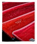 Red Canoes Fleece Blanket