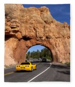 Red Canyon Near Bryce Canyon In Utah Fleece Blanket