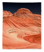 Red Canyon Swirls Fleece Blanket