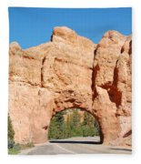 Red Canyon Tunnel Fleece Blanket