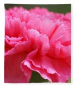 Red Carnation  Fleece Blanket