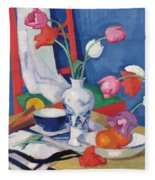 Red Chair And Tulips, C.1919 Fleece Blanket