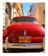 Red Chevrolet Fleece Blanket