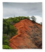 Red Cliff At Waimea Fleece Blanket