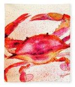 Red Crab  Fleece Blanket