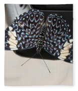 Red Cracker Butterfly Fleece Blanket