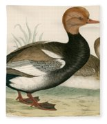 Red Crested Whistling Duck Fleece Blanket
