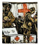Red Cross Poster, 1915 Fleece Blanket