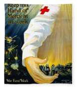Red Cross Poster, 1918 Fleece Blanket