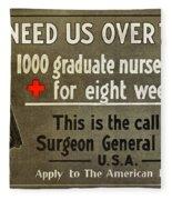 Red Cross Poster, C1914 Fleece Blanket