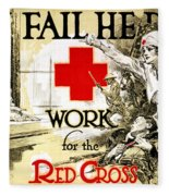 Red Cross Poster, C1918 Fleece Blanket