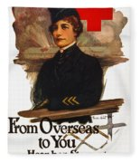 Red Cross Poster, C1919 Fleece Blanket