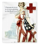 Red Cross World War 1 Poster  1918 Fleece Blanket