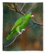 Red-crowned Amazon Fleece Blanket