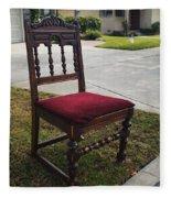 Red Cushion Chair Fleece Blanket
