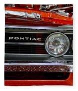 Red Customized Retro Pontiac-front Left Fleece Blanket