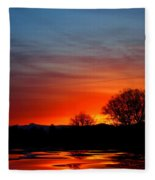 Red Dawn Fleece Blanket