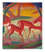 Red Deer 1 Fleece Blanket
