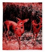 Red Deer Fleece Blanket