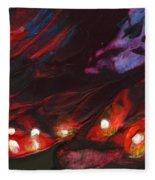 Red Demon With Pearls Fleece Blanket