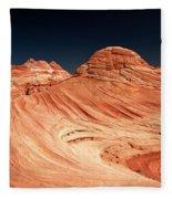 Red Desert Swirls Fleece Blanket