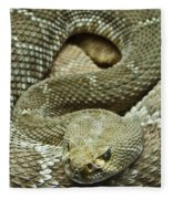 Red Diamond Rattlesnake 3 Fleece Blanket