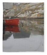 Red Dinghy  Fleece Blanket