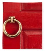 Red Door 01 Fleece Blanket