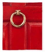 Red Door 02 Fleece Blanket