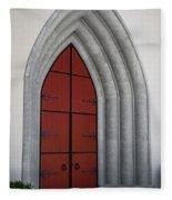 Red Door At Our Lady Of The Atonement Fleece Blanket
