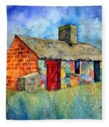 Red Door Cottage Fleece Blanket