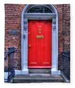 Red Door Dublin Ireland Fleece Blanket