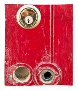 Red Door Lock Fleece Blanket